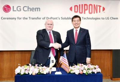 LG化学收购杜邦可溶性OLED IP和相关技术