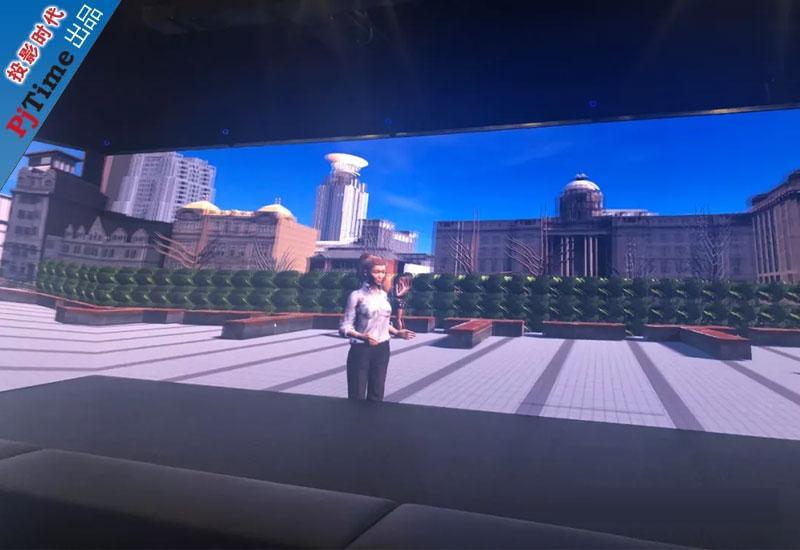上海某高校3D立体CAVE教学系统