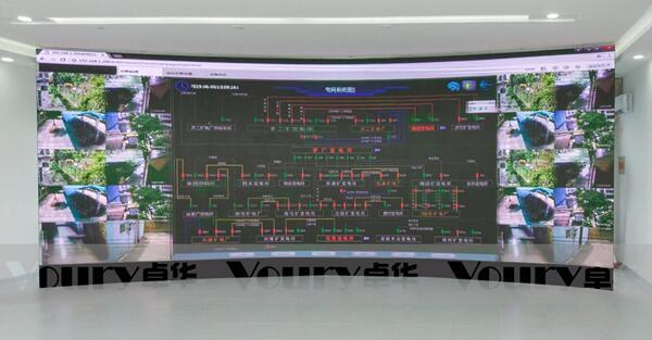 Voury卓华微间距LED显示屏应用于华聚能源调度大屏幕显示系统