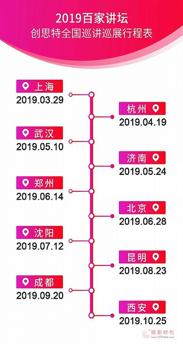 创思特共享云屏+灯条屏 百家讲坛——北京站