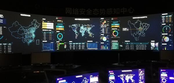 大视台风(TYPHOON)系列LED拼接处理器入驻成都某安全公司