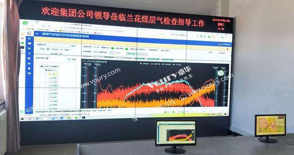Voury卓华打造山西兰花煤层气有限公司超窄边LCD显控系统