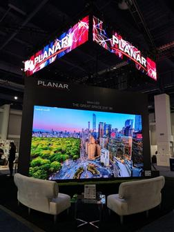 利亚德在CES 2020上展示平达品牌RGB mini-LED小间距显示器