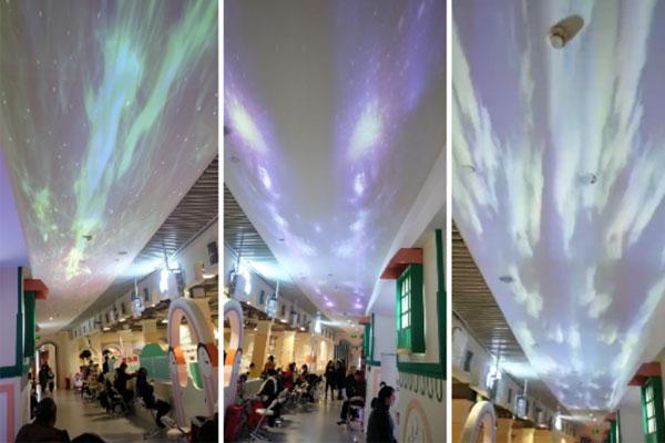 商场点亮绝美天幕,宏碁LU-W300激光超短焦投影机复刻浪漫星空