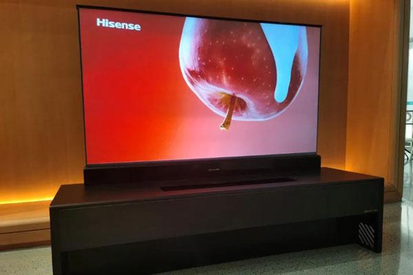 """海信线上AWE2020再揭""""黑科技"""" 激光电视打破声形传统形态"""