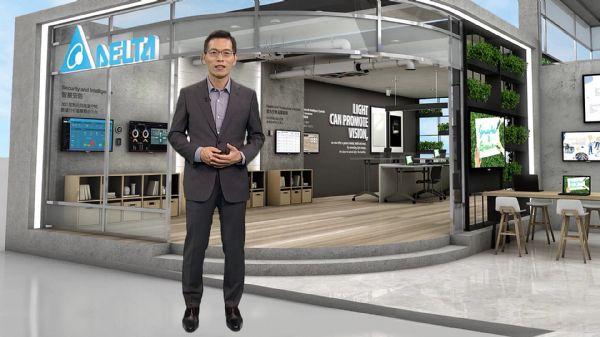 图二 台达楼宇自动化事业群资深处长江文兴介绍台达方案如何打造健康绿色建筑