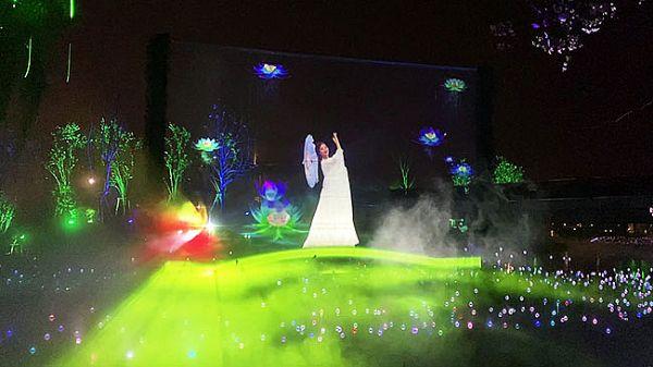 赢康参与南海公园梦幻光影艺术互动投影