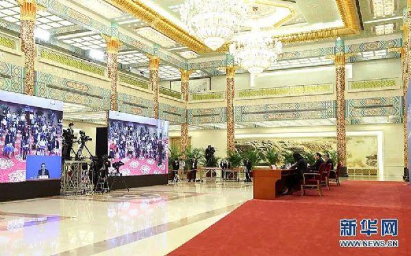 洲明UMini显示屏入驻人民大会堂(图片来自新华网)