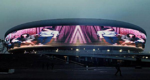 2260㎡!菲律宾最大户外LED屏洲明造!