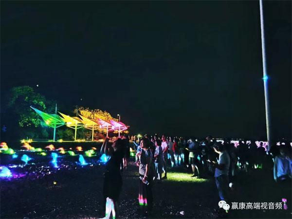 """赢康科技参与""""梦寻仙山""""光影演艺,助力打造梦幻长岛之夜"""