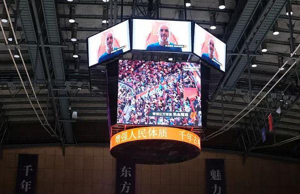 树2022杭州亚运会场馆标杆,洲明巨型斗屏点亮绍兴奥体中心!