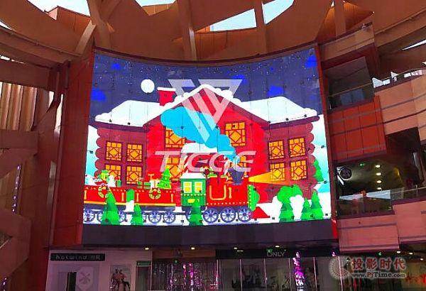 铁歌LED透明屏进驻南京水游城