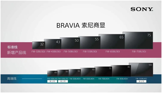 索尼BU30J系列BRAVIA商显正式开售!