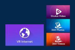 """三星展示""""VRInternet""""web游览器应用"""