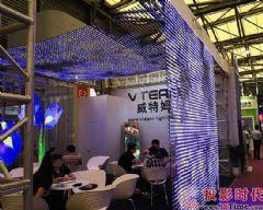 上海<font color='#FF0000'>LED</font>展:威特姆光电展P5透明广告机和<font color='#FF0000'>LED</font>软屏