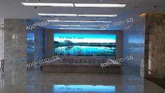 卓华P1.8LED显示屏在鹤壁示范区一楼大厅落成