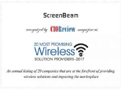 "ScreenBeam被""CIOReview""评为2017最有前途的无线解决方案提供商"