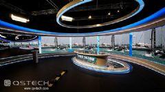 青松两块弧形室内屏入驻瑞士罗桑电视台