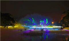 <font color='#FF0000'>3D</font>水幕投影秀在4A级度假圣地震撼上演