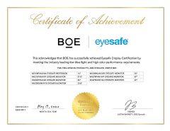 BOE低蓝光显示方案获德国莱茵TÜV认证