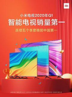 第一季度中国彩电市场销量近千万小米电视持续领航