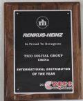 天创中电荣获2010年度RH最佳国际代理商奖