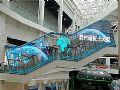 玻璃廊桥+LED奥蕾达异形透明屏大放异彩!